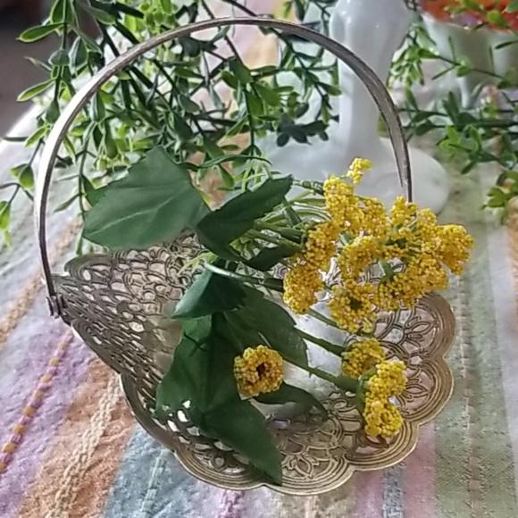 Vintage Silver Plated Love Lace Basket